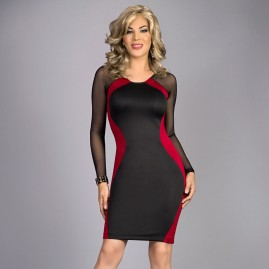 New Scarlet Red Hourglass Body Contour Dress