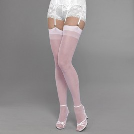 Pink Sheer Seamless Thigh Highs
