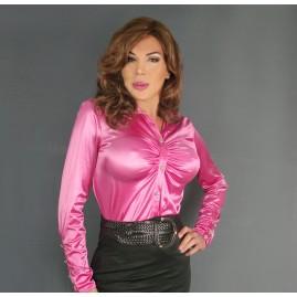 Elegant Satin Blouse - Pink