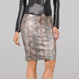 Animal Print Stretch Pencil Skirt