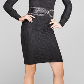 "Platinum Collection 24"" Lace Skirt in Black"