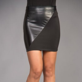Leatherette Contour Mini Skirt Thumbnail