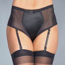 Comfort Briefer Style Gaff Panty in Black