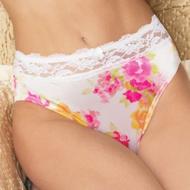 Floral White Lace Wide Top Panty