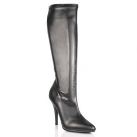 Provocative Stretchy Leather-Like Boot