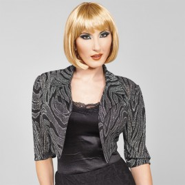 Cute Metallic Boloero Jacket-Platinum Swirl
