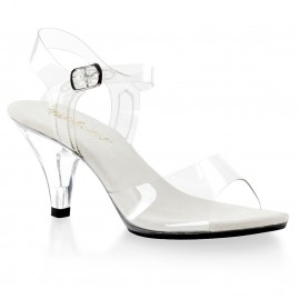 Clear strappy sandal