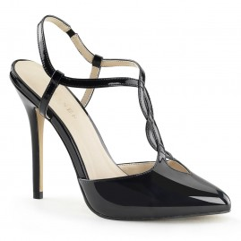 Sling Back T Twist Strap Pump