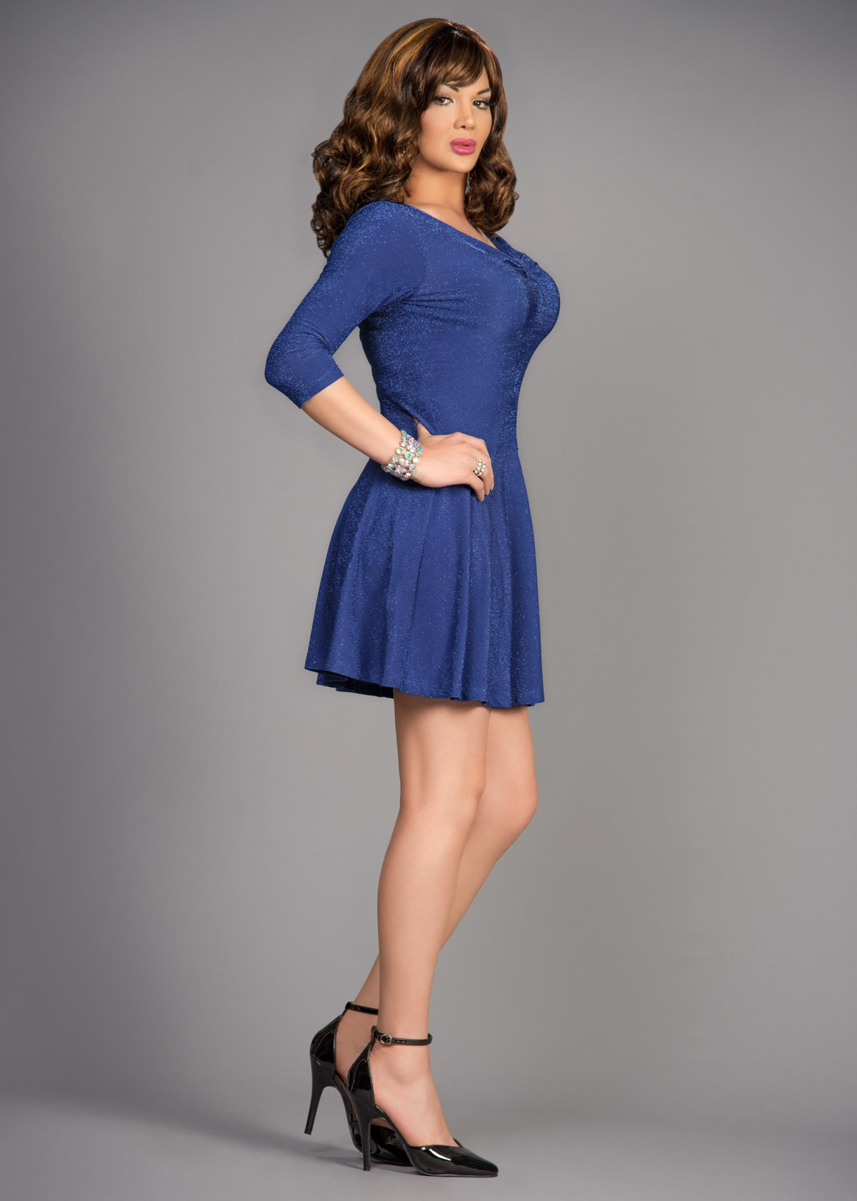 cdbfstore crossdressing clothes choose feminine dress in blue