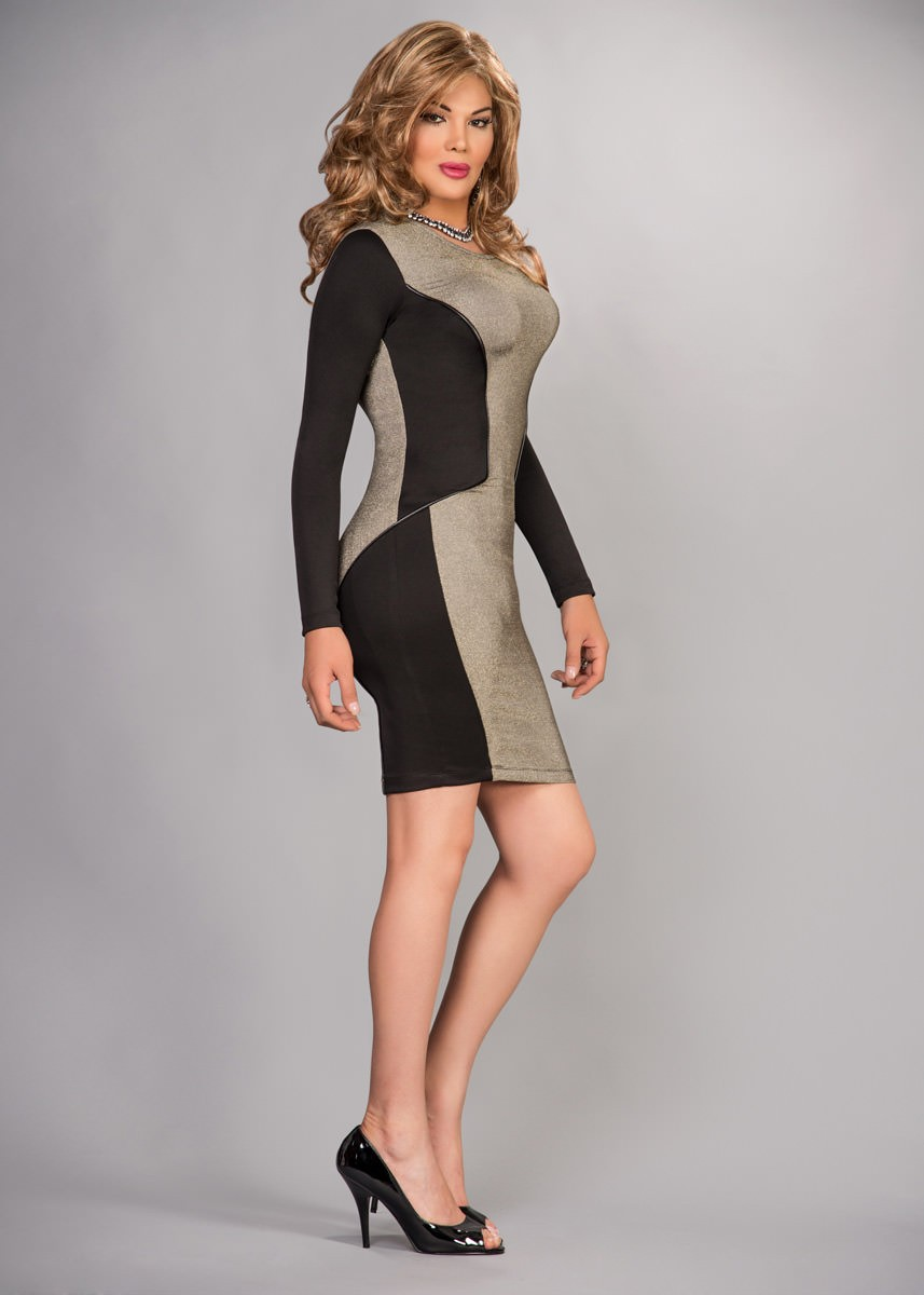 Cdbfstore Crossdressers Supreme Bodycon Hourglass Dress
