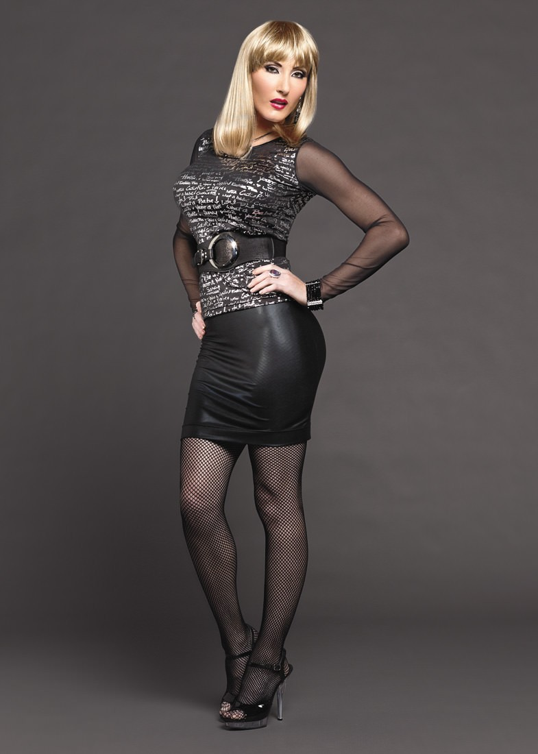 """CDBFstore 19"""" Look of Leather Transgender skirt - For the"""
