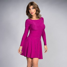 Best Selling Flair Dress in Berry Pink