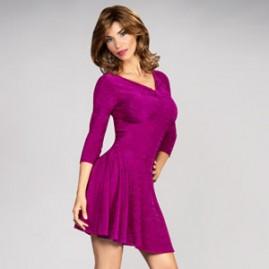 Feminine Swing Dress Pink