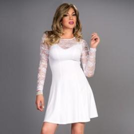 White Fantasy Swing Dress