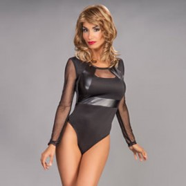 Leatherette Accent Teddy