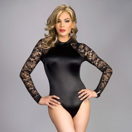 The SF Modern Signature Satin Teddy -Black Satin