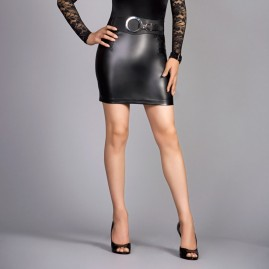 transgender fashion leather mini skirt